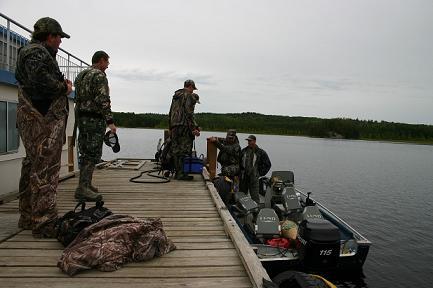 Hunters at Docks Boat
