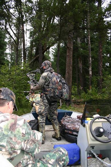 Ontario Black Bear Hunter Photo, Boat