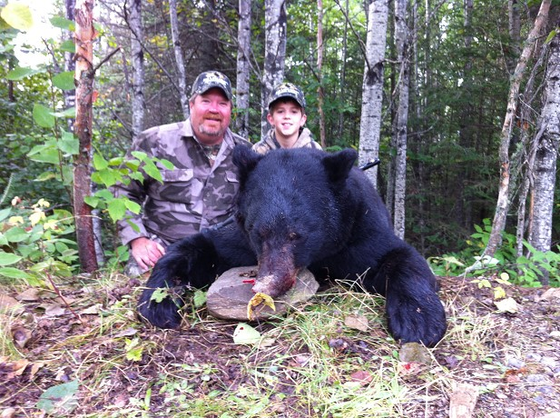 Guest with black bear