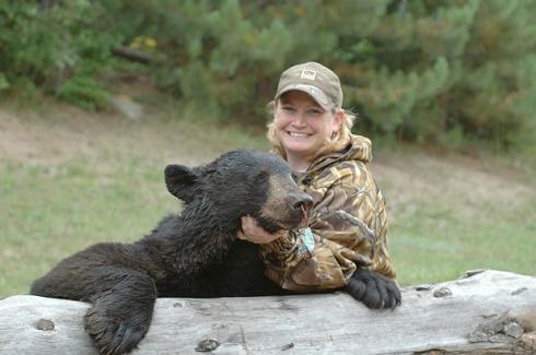 Woman Hunter Black Bear in Ontario