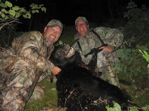 Hunters with Black Bear